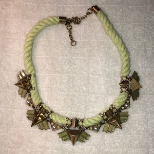J. Crew Light Green Rope Necklace